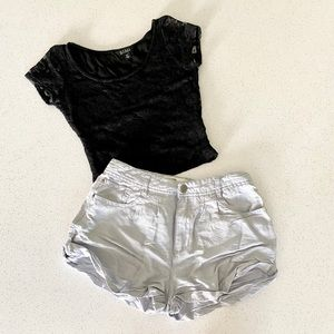 Baggy Mini Cargo Shorts